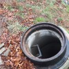 Open manhole used for Leachate dumping