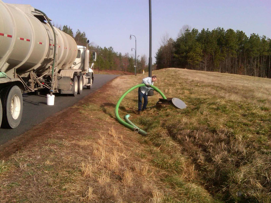 City of South Hill employee dumps leachate