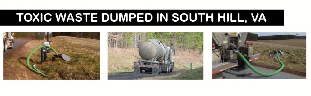 Toxic Waste dumped in South Hill
